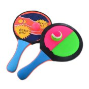 BEACH RACKET SET DOUBLE USE 2+2pcs 34x19cm