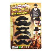 MUSTACHES 6pcs 3ass 6-8cm