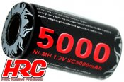 Battery - 1 cell - NiMH - 1.2V 5000mAh