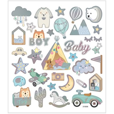 Stickers, Baby Boy, 1ark