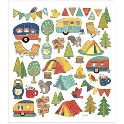 Stickers, Campingtur, 1ark