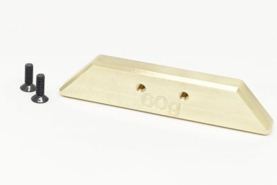 Brass counter weight set 60g chassis rear