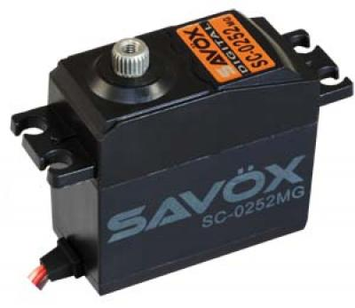 Savox Servo SC-0252MG digital std.size 0.19 speed/10,5kg. Metal