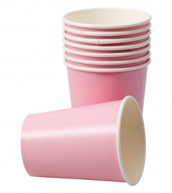 Pappersmugg, Rosa 8-p