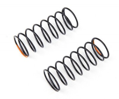 Rear shock spring Black/med Orange dot